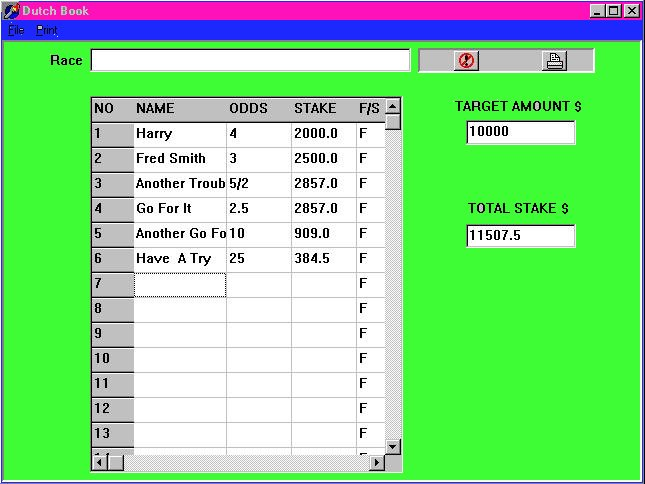 Dutch book betting calculator horse villages in minecraft 1-3 2-4 betting system